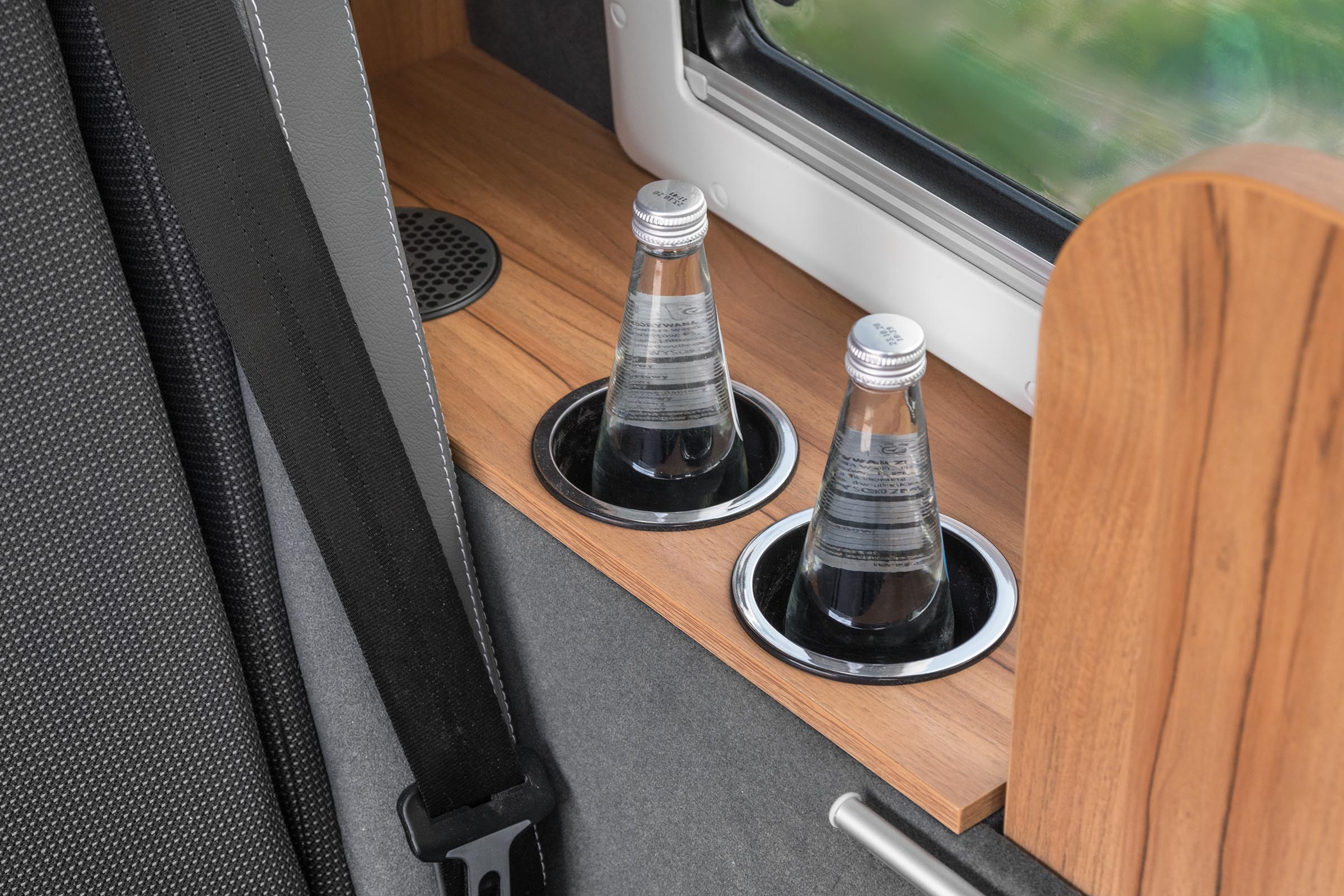 USB plugs in a camper van